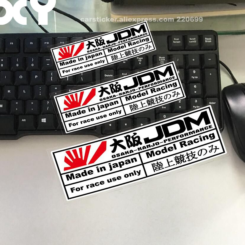 XY Car Stickers for Japanese Style JDM OSAKA Performance Car Motorcycle Sticker Decals Reflective Type Auto Racing Stickers racing middle size resident evil decals bumper stickers for car