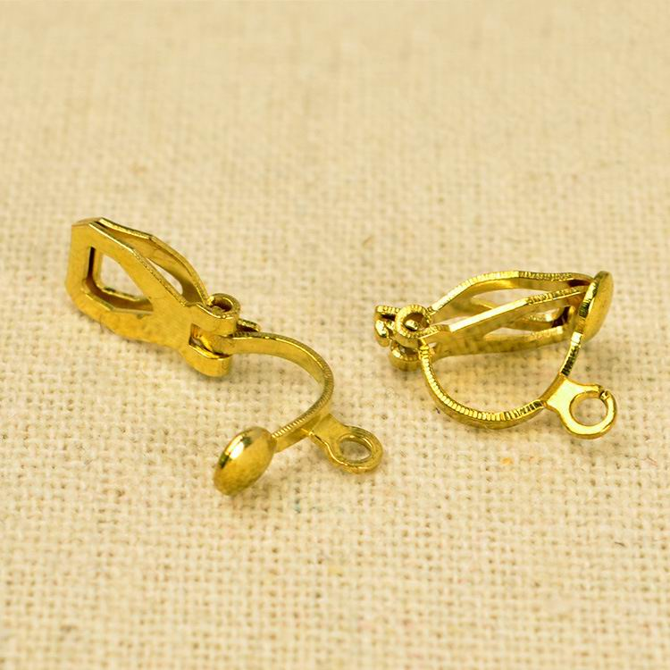 6x12x8mm 100Pcs Clip On Earring Ear Wire Findings DIY Gold/original ...