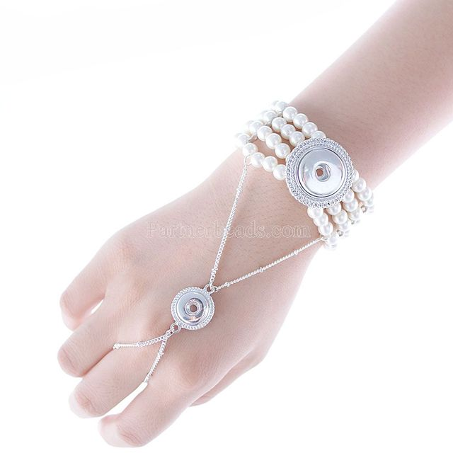Partnerbeads Hot Snap Bracelet Fashion Diy Charms Bangles Ons Jewelry Angel Silver Kc0606