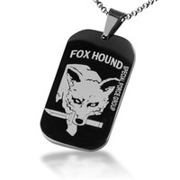 Bahamut Metal Gear Solid Snake Fox Hound Black Dog Tag Free With Chain Titanium Steel