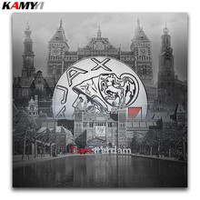 landscape 5D Diy diamond painting cross stitch City Scenery Full round Diamond embroidery Amsterdam full mosaic big ico
