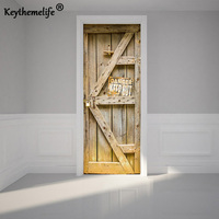 2 pcs/set Dangerous Door Wall Stickers DIY Mural Bedroom Home Decor Poster PVC Waterproof Door Stickers Imitation 3D Decal EA