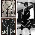 Jersey de béisbol Kanye Hip Hop Street Dance 07 K Unisex Camiseta de Béisbol Streetwear Camiseta De Beisbol