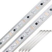 10 шт./лот WS2811 светодиодный пробки DC 12 V умная лампа жесткой полосы света светодиодный Диод лампы RGB алюминиевый корпус Водонепроницаемый Бар ...