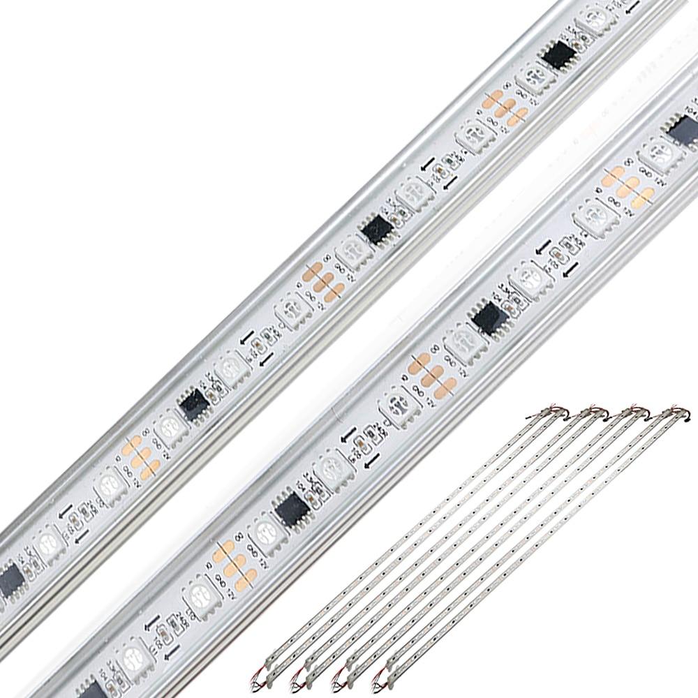 10pcs/lot Ws2811 Led Tube Dc 12v Smart Bulb Rigid Strip Light Led Diode Lamp Rgb Aluminium Shell Waterproof Bar Light 12v Jq