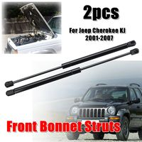 2pcs Car Front Bonnet Hood Gas Struts Support For Jeep Cherokee KJ 2001 2007 55360411AB