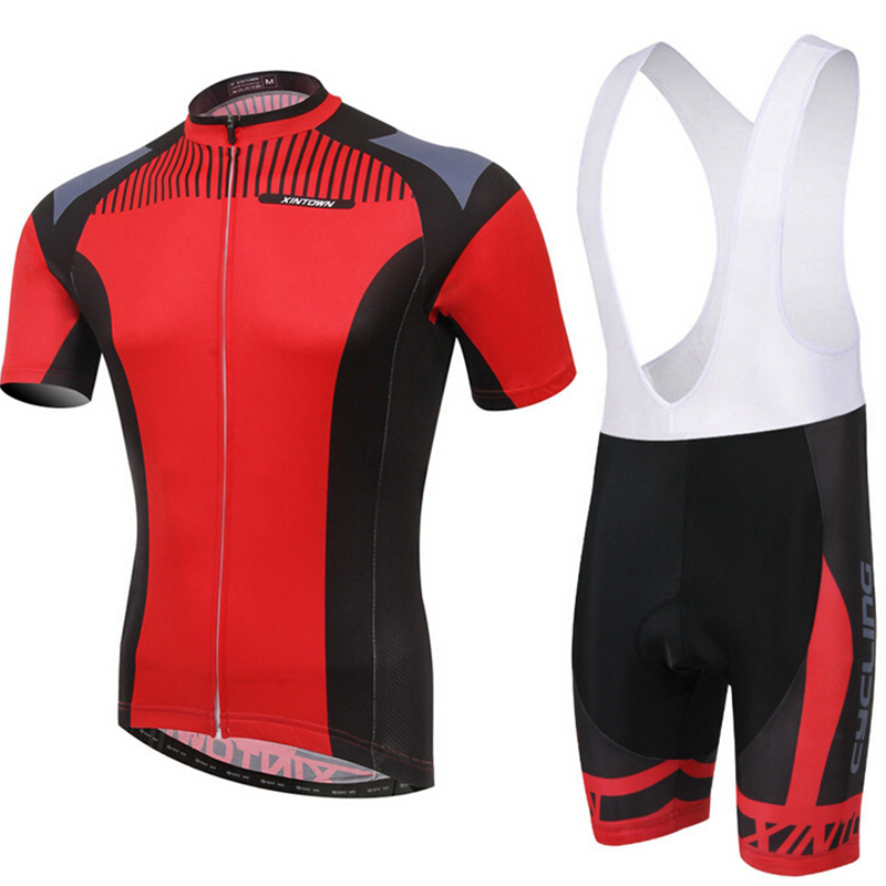 2018 Ropa Ciclismo XINTOWN New Short Sleeve Suit Bike Men's Sports Cycling Jersey Sets & (Bib) Shorts Set Bicycle Clothing Tops santic short sleeve cycling jersey bib shorts pad sets conjunto ciclismo manga cycling bike sports clothing mct031