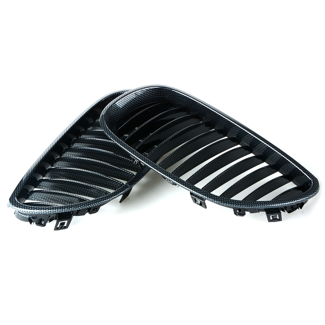 1 Pair Auto Replacement Parts Racing Grills Car Front Kidney Grille Carbon Fiber Grilles For BMW 5 Series E60 2003 2009