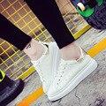 2016 осень новый белые туфли кружева женский Корейский студент толстым дном повседневная обувь повседневная обувь прилива