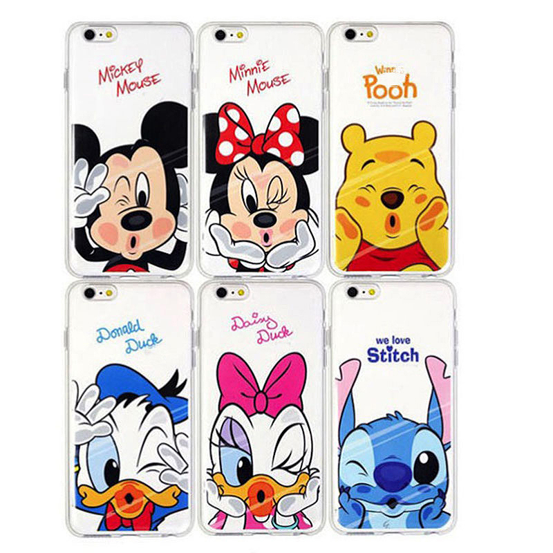 Minnie Mickey Kiss Silicone Soft TPU Cover Coque For Apple iPhone 5 5S SE 6 6S