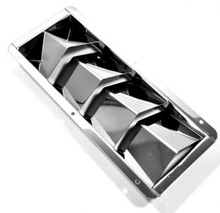 2PCS BOAT STAINLESS STEEL 4 LOUVER VENT MARINE SLOTS 10-3/8 X 4-3/8