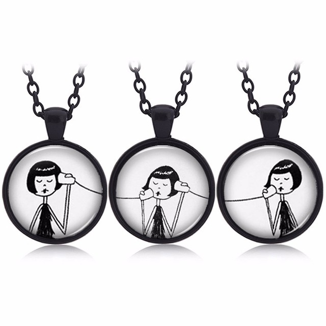 3pcsset baby sister pendant necklace girl phone call connector 3pcsset baby sister pendant necklace girl phone call connector best friend forever bff necklace mozeypictures Image collections