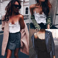 Fashion Women Lace Vest Top Sleeveless  Cotton  Casual Sexy Tops  T-Shirt