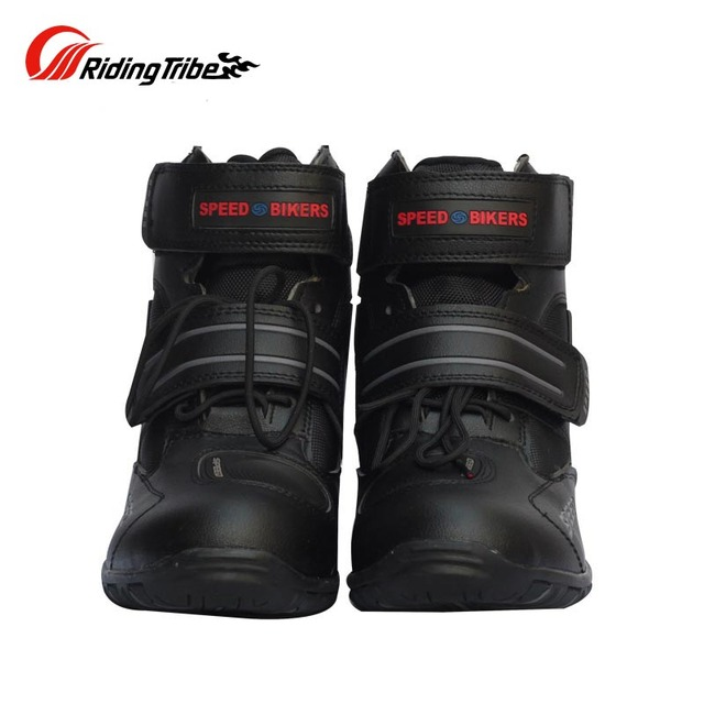 2bd8a3204c5654 Riding Tribe Microfiber Leather Motorcycle Boots Pro-biker SPEED Moto Racing  Motocross Motorbike Boots Shoes A005
