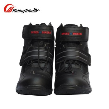 Woman Motorcycle protections shoes men foot protectors Microfiber Leather Racing boot Motocross Motorbike shift riding boots