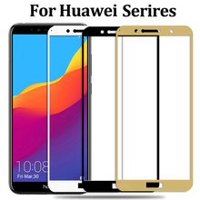 Full Cover Tempered Glass for Huawei Honor 7C Pro 7C 5.7inch AUM-L4 7S Y6 Prime
