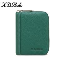 XDBOLO New Coin Purse Fashion Women's Wallet Solid Key Card Multifunction Mini Wallet Women Clutch Designer Small Wallet Green