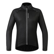 2018 New PU Leather Waterproof Cycling Jacket Men Women Windproof Coat chaqueta ciclismo invierno Thermal Cycling Winter Jacket cheap WOSAWE Polyester Breathable Pockets Quick Dry MANDARIN COLLAR Fits true to size take your normal size Broadcloth Jackets