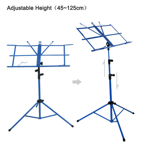 Hot Sale Foldable Lightweight Metal Material Sheet Music Stand Holder with Waterproof Carry Bag Lahore