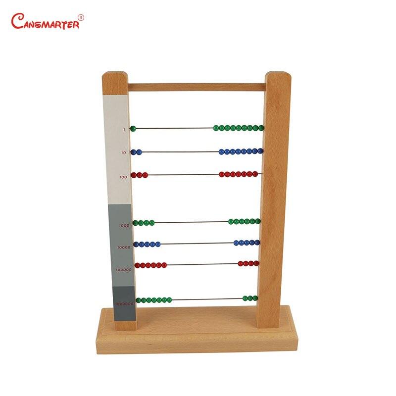 Soroban Abacus cadre jouet enfants Montessori matériaux jeu éducatif aides pédagogiques apprentissage maths jouets en bois amical MA070-3