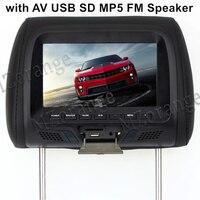 7 Inch TFT LED Screen Pillow Monitor General Car Headrest Monitor Beige Gray Black Color AV