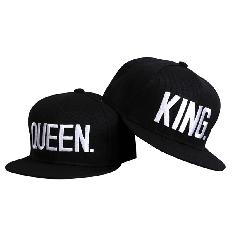Hip-hop Sport Caps 2018 New Men Women Running King Queen Embroidery Snap Back Hat Personality Couple Cap Gifts