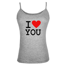Summer Style I Love You Women Tank Tops Shirt Bodybuilding Fitness Vest sexy Clothes Couple clothes for lovers