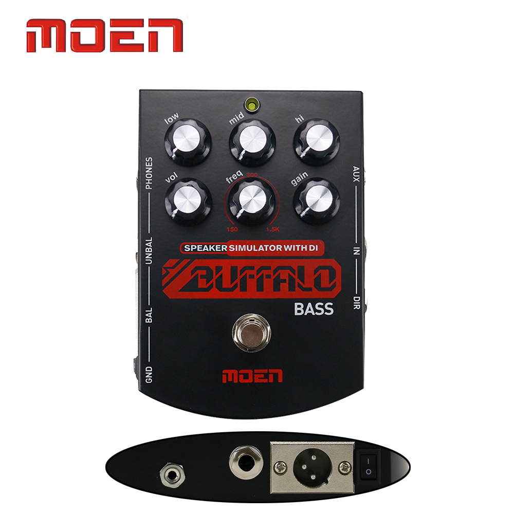 Moen High Quality Effects True Bypass Design Buffalo Bass Guitar Effect Pedal mooer ensemble queen bass chorus effects effect pedal true bypass rate knob high quality components depth knob rich sound