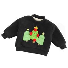 Children Boys Girls Autumn Winter Hoodies Sweatshirts Cute Christmas Holiday Cashmere Long Sleeve Baby Clothes Outwear children autumn and winter warm clothes boys and girls thick cashmere sweaters