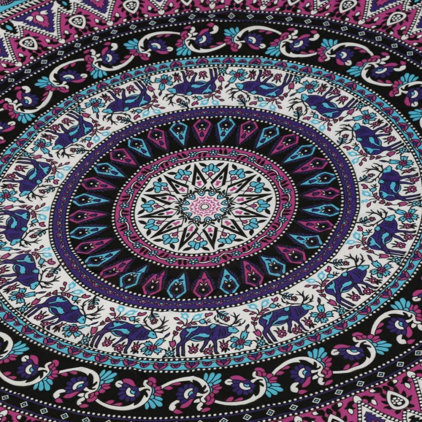 Fashion retro print Round Beach Pool Home Shower Towel Blanket Table Cloth Yoga Mat Soft and comfortable drop shipping A30