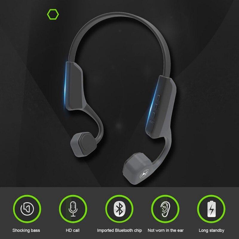 V8 Bone Conduction Headphone Wireless Bluetooth 4.1 Headset Sports Earphones With Micphone
