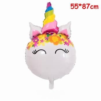 1PC 100*97CM Pink Horse Little Pony Unicorn Foil Balloons Helium Balloon Kids Toys Wedding Birthday Animal Party Decor Supplies 37