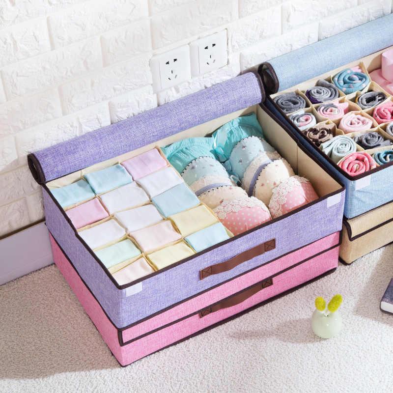 Underwear Bra Socks Ties Drawer Storage Organizer Box Wardrobe Closet Divider