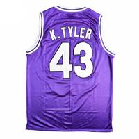 Custom Basketball Jerseys Men Women Youth Kids Kenny Tyler #43 6th Man Huskies Purple Jersey Customize Your Own T Shirts Stitch