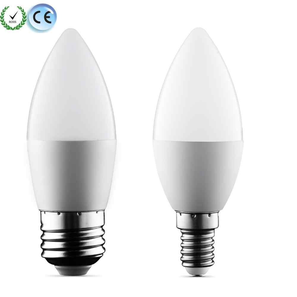 LED candle lamp 2W 5W 9W E14 E27 B22 LED bulbs SMD 2835 220V Warm white/white for chandelier Led Spotlight for Home led lighting