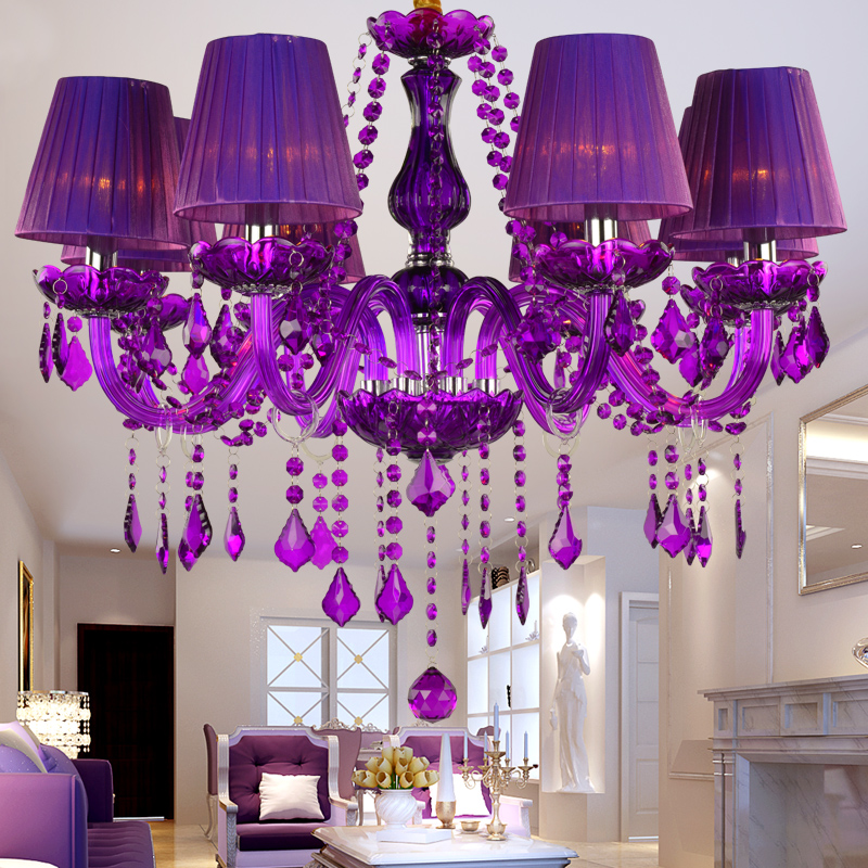 Buy purple chandelier and get free shipping on aliexpress mozeypictures Images