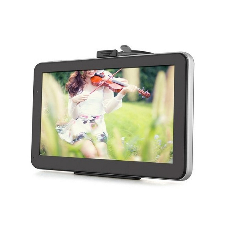 Système de navigateur GPS de voiture avec pare-soleil MP3 et fichiers WMA entrée Audio émetteur FM de voiture localisateur GPS lecteur vidéo formatage TXT