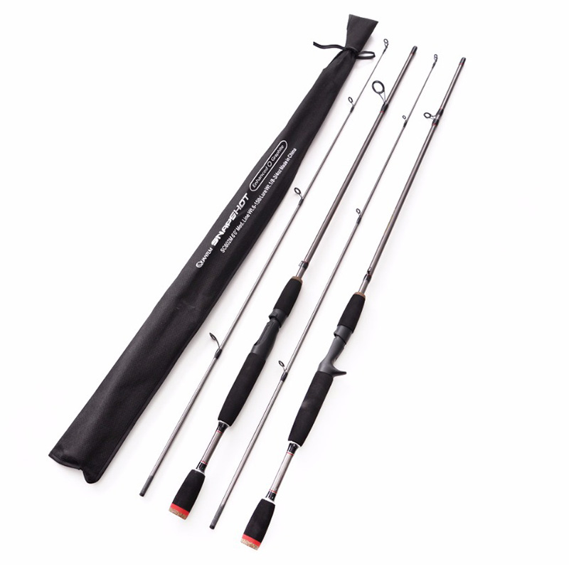 2018 New 1.8m 2 Segments fishing rod M Power line wt.6 15lb lure wt.1 8 3 4oz Carbon Spinning Casting Lure Fishing Rod