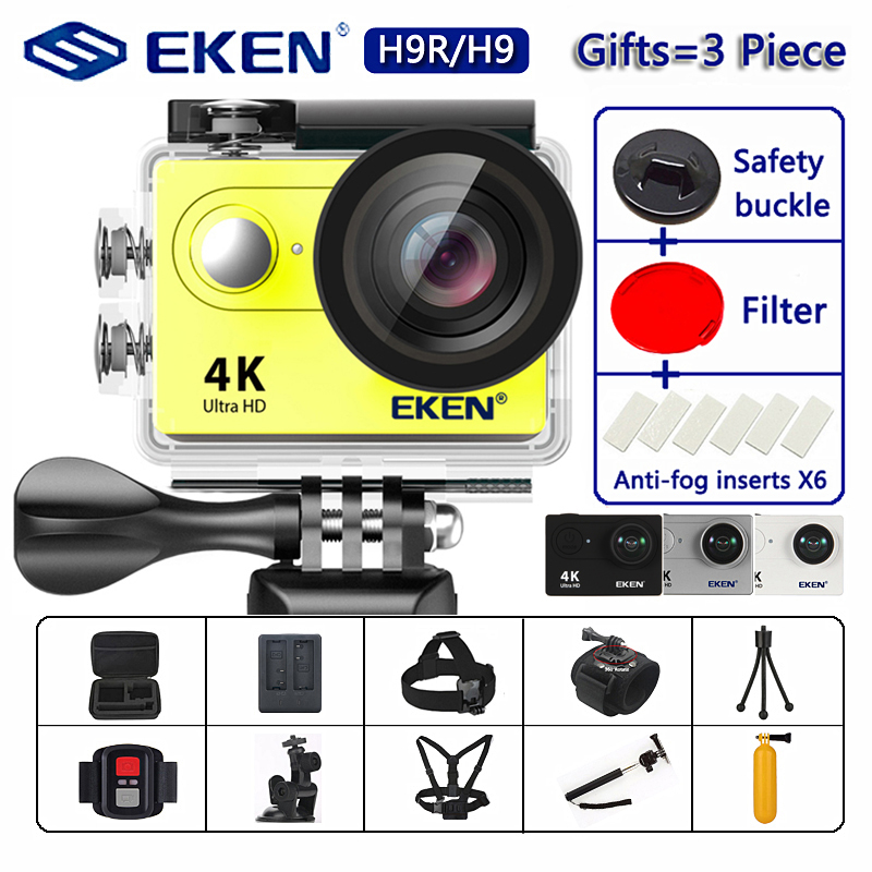 "EKEN H9R / H9 Action Camera Ultra HD 4K / 30fps WiFi 2.0"" 170D Underwater Waterproof Helmet Video Recording Cameras Sport Cam-in Sports & Action Video Camera from Consumer Electronics"
