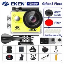 """Eken h9r/h9 câmera de ação ultra hd 4k/30fps wifi 2.0 """"170d subaquática à prova dunderwater água capacete câmeras gravação vídeo esporte cam"""