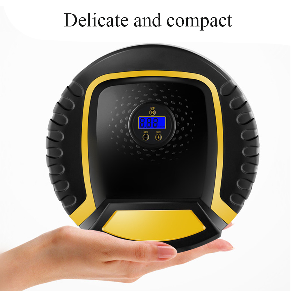 Cars Tool Electric Auto Off ABS Air Compressor Pump Portable Digital Display Mini Emergency With LED Motorcycle Tire Inflator