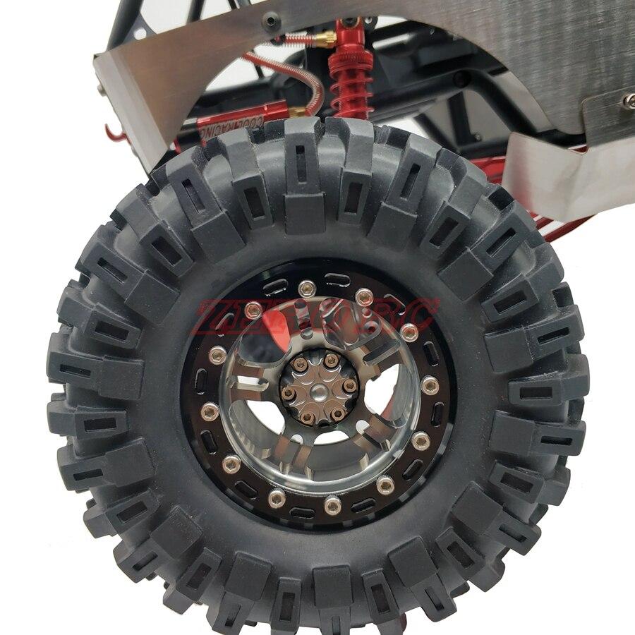 Alloy Beadlock 2.2/'/' Wheel Rim for 1//10 RC Axial Wraith RR10 SCX10 II AX10 TRX-4