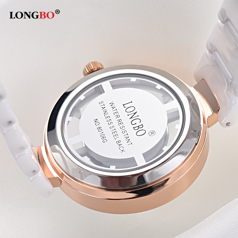 LONGBO Brand Ladies Luxury Elegant Watches Women Fashion Watch 2018 Transparent Skeleton Face Dial Female Clock Relogio Feminino