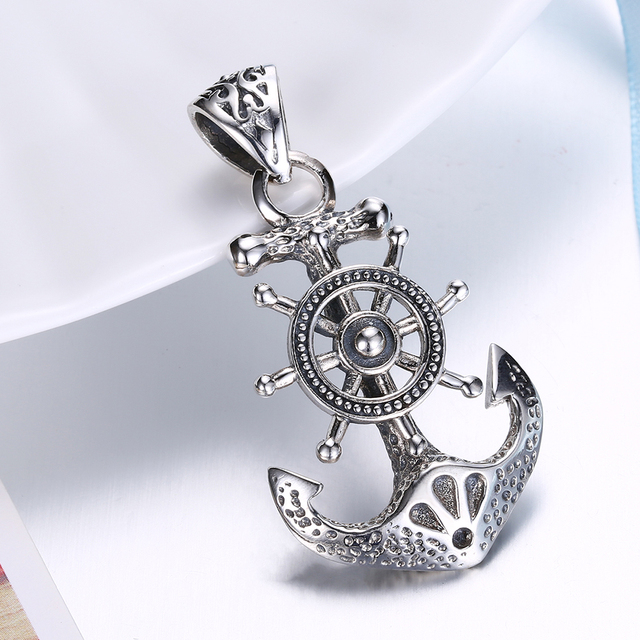 Thai silver big anchor pendant punk real 925 sterling silver pirate thai silver big anchor pendant punk real 925 sterling silver pirate anchors pendant for men jewelry aloadofball