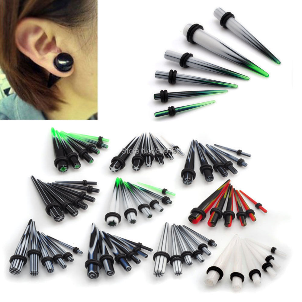 12pc Acrylic Ear Plug Tapers Gauge Stretching Kit Piercing Expander Body Jewelry 2mm 8mm Fashion Wholesal Lots In From