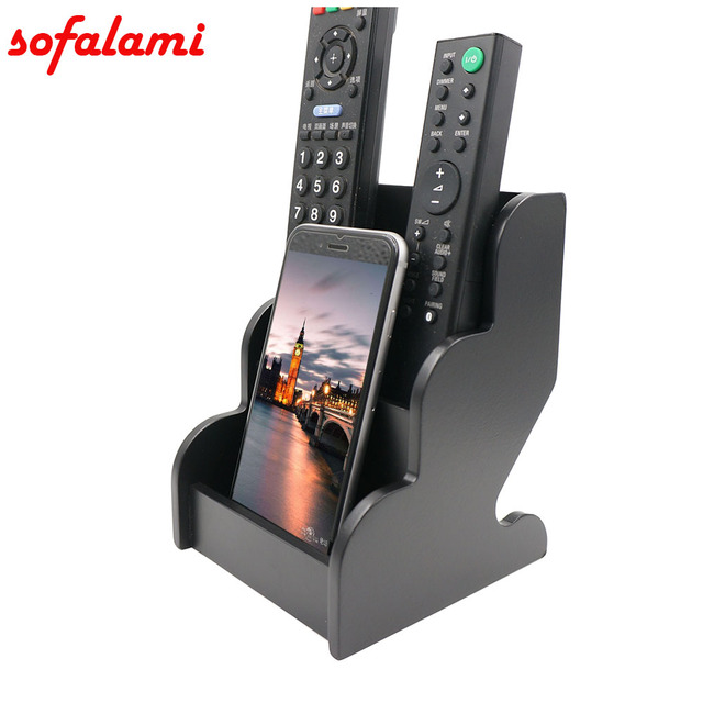 universal cell phone wooden holder bedroom desktop phone stand remote control small object. Black Bedroom Furniture Sets. Home Design Ideas