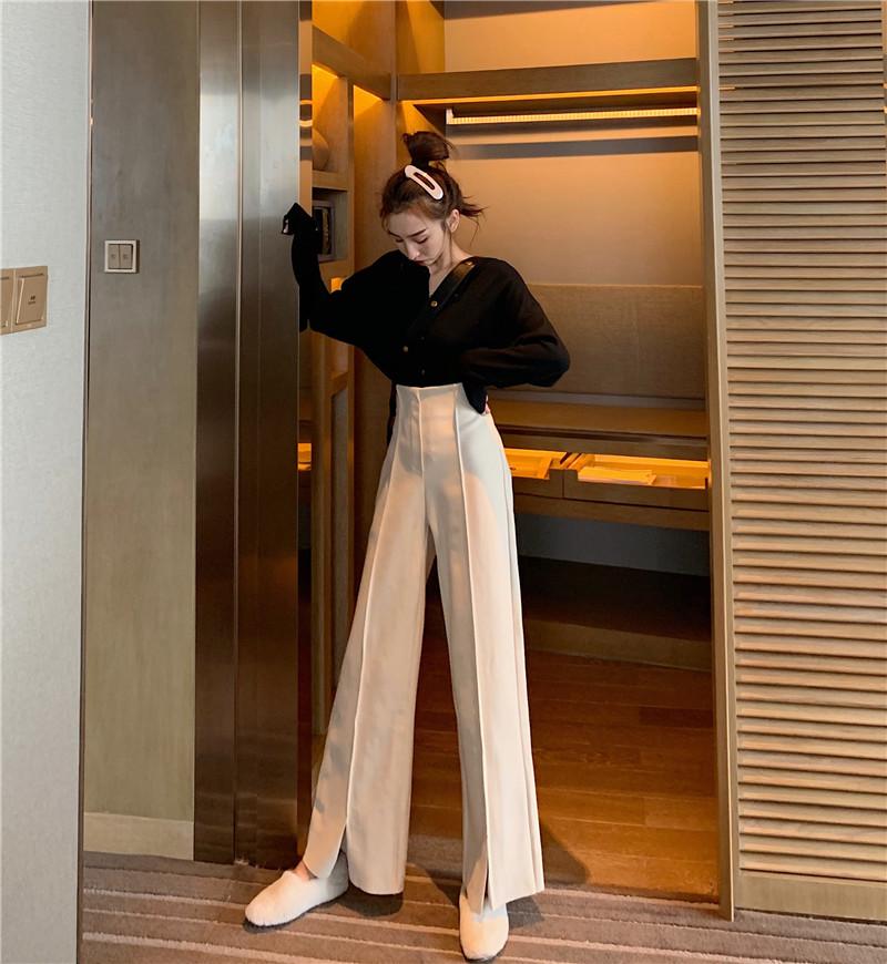 Women's Pants Elegant Style Plaid Pants for Women Autumn Casual Loose Elastic Waist Trousers Harajuku Female Ankle-Length ZT1954 7
