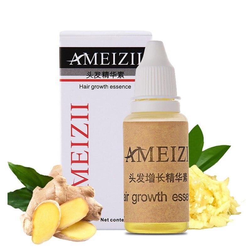 AMEIZII 20ml Pure Liquid Hair Loss Growth Essence Natural Hair Care Dense Ginger Hair Fibe