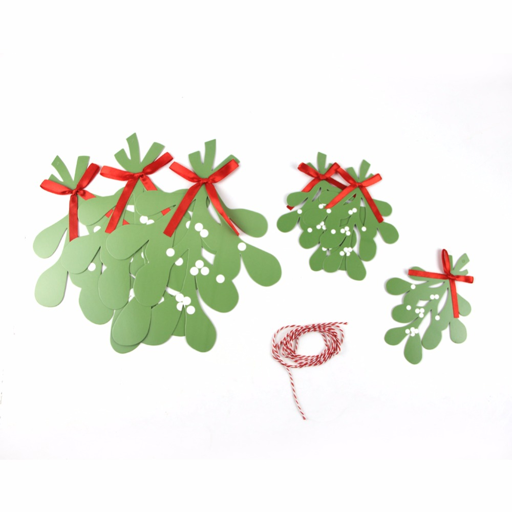 Merry Christmas Green Garland Banners Leaves Garland Decoration For Christmas Party Decoration Christmas Tree Decor in Pendant Drop Ornaments from Home Garden