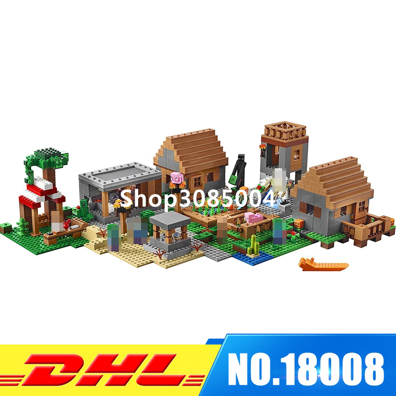DHL IN Stock LEPIN 18008 1673 PCS My worlds The Village Model Building Kits Blocks Kid Brick Toy Gift Compatible With 21128 lepin15003 2859pcs city series the town hall model building kits blocks kid toy gift compatible with 10224